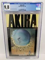 AKIRA #15 CGC 9.8 NM/MT Newsstand! Katsuhiro Otomo, Epic, ONLY 15 CGC Census