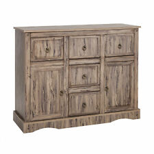 Accent 5 Drawer Storage Cabinet Display Shelf W/ Doors Wooden Rustic Farmhouse