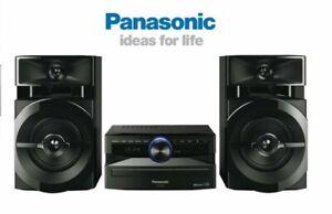 Panasonic Bluetooth Mini Hi Fi System USB FM Radio CD Player 300W 2-Channel