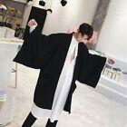 Men Gothic Loose Cardigan Punk Kimono Jacket Oversize Coat Outwear Cloak Fashion