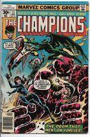 """Marvel Comics """"The Champions"""" #13 F/VF Jan. '76 Herc, Black Widow, Ghost Rider,"""