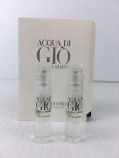 ACQUA DI GIO By GIORGIO ARMANI Men Cologne 0.04 OZ SPY QTY 2 HALF FULL AS SHOWN