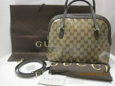 GUCCI Authentic Crystal GG Dome 420023 Guccissima Crystal Convertible Purse EUC!