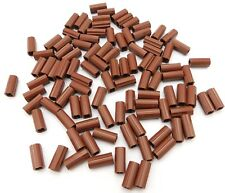 LEGO LOT OF 100 NEW REDDISH BROWN TECHNIC AXLE CONNECTOR 2L PIECES