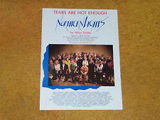 Neil Young,Bryan Adams,etc. NORTHERN LIGHTS sheet music Tears Are Not Enough '85