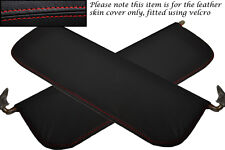 RED STITCHING FITS RILEY WOLSELEY 1500 2X SUN VISORS LEATHER COVERS ONLY