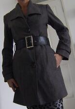 LEGIO MAYINDA GREY BELTED COAT Size 8/10 (Eur 38)