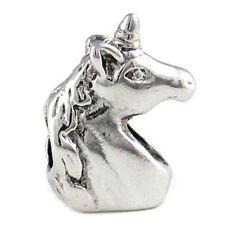 Wholesale 20pcs Unicorn Silver European Bracelet Spacer Charm Beads D490