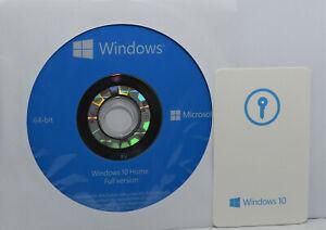 GENUINE WINDOWS 10 HOME Operating System LICENCE KEY & DVD 64 BIT