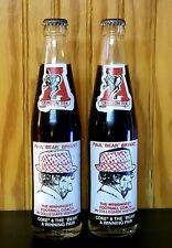 GREAT DEAL!! Vintage NCAA Alabama Coca-Cola BEAR BRYANT Coke Bottles (set of 2)