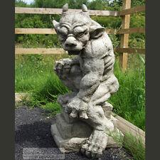 GUARDIAN GARGOYLE Hand Cast Stone Garden Ornament Statue Sculpture ⧫ onefold-uk