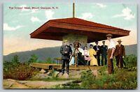 Mount Ossipee NH~The Crow's Nest~Photographer~Camera on Tripod~Tourists~c1910