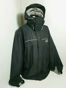"""O NEILL Men Snowboarder Ski  Jacket Removable Hood 90`Spell Out Size M PIT 24"""""""