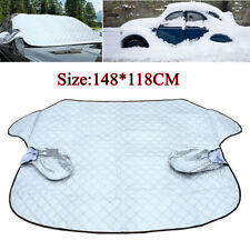 Car Windshield Cover Sun Shade Protector Winter Snow Ice Rain Dust Guard Silver