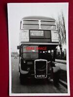 PHOTO  LONDON TRANSPORT  BUS NO RTW1 REG KGK  501