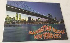 4X6 postcard New York Twin Towers  WTC World  Trade Center  Pre 9/11 Manhattan