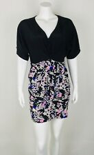 Yumi Kim Women's Wrap Dress 100% Silk Medium Short V Neckline Geometric Shape