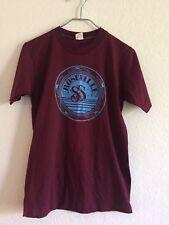 Vintage T Shirt Synchronized Swimming Burgundy Blue Thin Hipster TShirt Adult