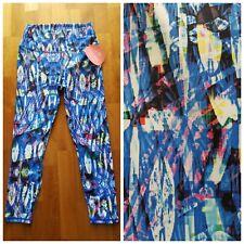 New GURU Multicolor Print Women's M Medium High Waist Capri Yoga Pants Leggings