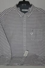 NEW Nautica 3XL XXXL WR7436 White Gray Red stripes Long Sleeve Shirt Classic Fit