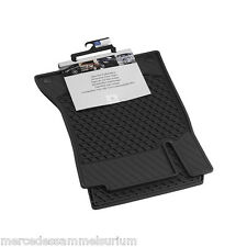 Mercedes Benz Original Rubber Floor Mats RHD V 222 S Class Long Black NIP