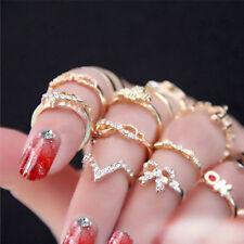 1set 7pcs donne popolare bowknot knuckle midi metà dito punta impilamento anelli