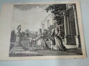 Antique Engraving of Empress Catherine 2
