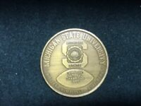 Michigan State MSU 1965 National Champions Coin Football Token Champs Vintage