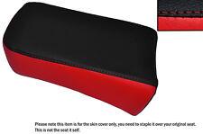 BLACK & B RED CUSTOM FITS SUZUKI LS 650 SAVAGE REAR LEATHER SEAT COVER