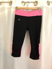 Under Armour Heat Gear Compression Yoga Fitness Running Pants Black M