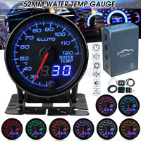 Manometro Digitale LED Temperatura Acqua Water Temp Gauge 52mm Auto 12V