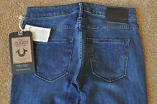 TRUE RELIGION GINA MINI SEXY BOOT CUT 25X33 Jeans NWT$294 Distressed-ITALIAN!