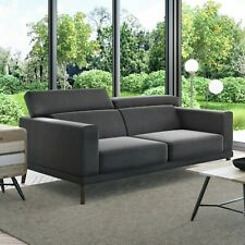 Lamarr Sofa in Dark Grey With Adjustable Headrests - Seats 2 Sof026