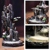 Mountain River Handicraft Incense Holder Waterfall Smoke Backflow Burner Censer