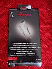 ROCKETFISH RF-AP309 FIREWIRE 800 TO 4 PIN CABLE 6'