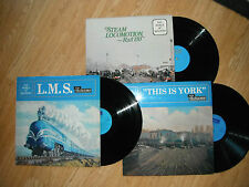 WORLD OF RAILWAYS LMS , THIS IS YORK , STEAM LOCO RAIL 150 3 x LPs exc