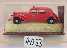 Brekina 1/87 Nr. 1431 Citroen 11CV Limousine Feuerwehr Sapeur Pompier OVP #4033