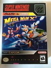 Mega Man X2 - Super Nintendo - Replacement Case - No Game