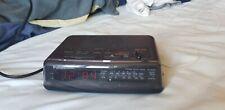 Rare vintage Black Panasonic clock radio model RC-6066 tested