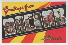 [66368] Old Large Letter Postcard Greetings from Macomb, Illinois