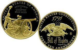 THE BILL OF RIGHTS SECOND AMENDMENT COMMEMORATIVE COIN PROF LUCKY MONEY $79.95