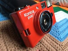 Vintage 80's Konica pop 36mm Red camera. RARE!!!! Working