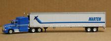 Trucks & Stuff 7801 HO Peterbilt 386 w/53' Marten Transport reefer
