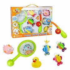Bad Toys Fishing Spiel mit Fishing Net Pole Stangen Fische Badespaß Badewanne Wasserspielzeug