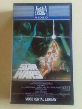 VHS SUPER RARE ( STAR WARS  A NEW HOPE) 1982 1ST UNCUT ISSUE FOR VIDEO LIBRARY