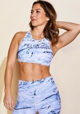 Peloton X WITH High Neck Geode Bra Small Tie Dye Marbled Stretch Fitness Sports
