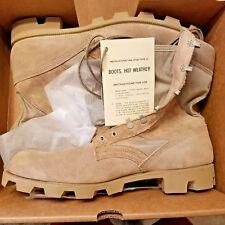 US Army Men's Military Boots sz 13.5 XN hot weather type II Desert Tan