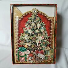 Christmas Tree with Presents Holiday Greeting Cards (Set of 12) by Punch Studio