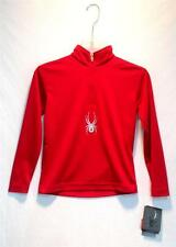 Spyder Kids Youth Boys Tribal Dry Web T-Neck Red Silver Black Size Small NEW