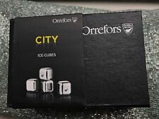 $30 Orrefors City Set of 4 Ice Cubes New in Box  Luxor Box